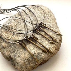 ⭐️5/$25 NEW Handmade Tribal Boho Arrow Necklace